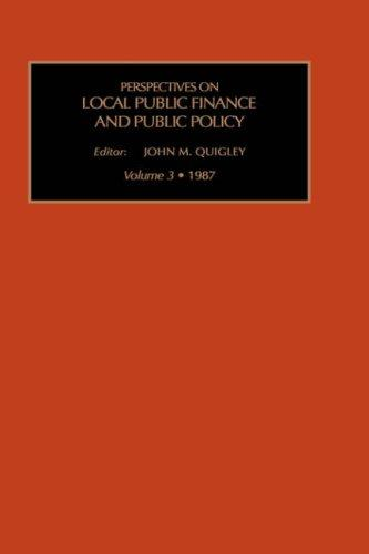 Perspectives on Local Public Finance and Public Policy