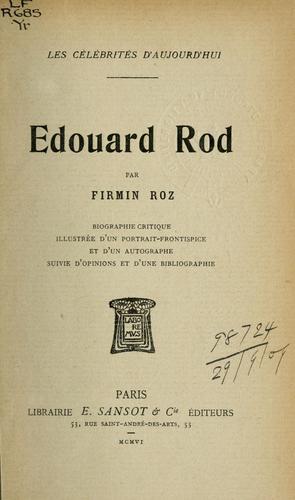 Édouard Rod