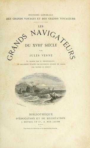 Les grands navigateurs du XVIIIe siècle