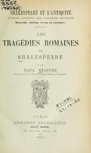 Download Shakespeare et l'antiquité
