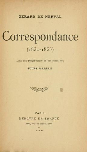 Correspondance (1830-1855)