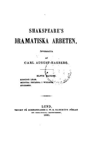 Download Shakspeare's dramatiska arbeten, 11. bande