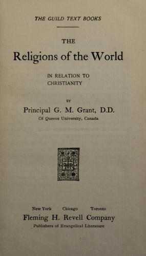 Download The religions of the world in relation to Christianity