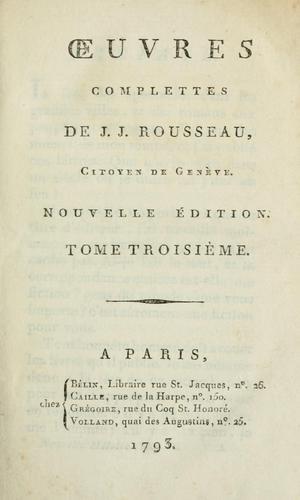 Download Oeuvres complettes de J.J. Rousseau, citoyen de Genève.