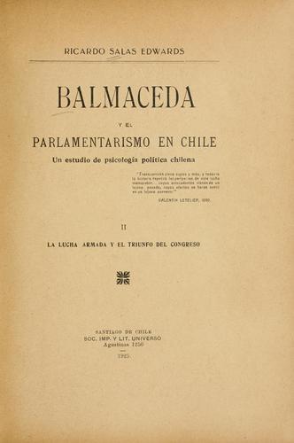 Download Balmaceda y el parlamentarismo en Chile