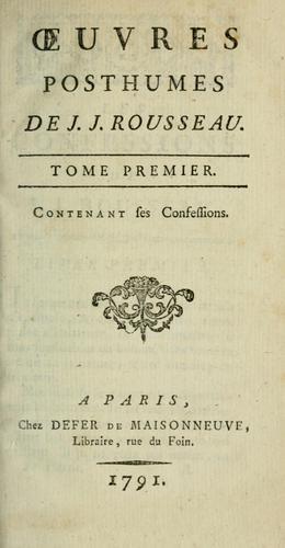 Oeuvres de J.J. Rousseau.
