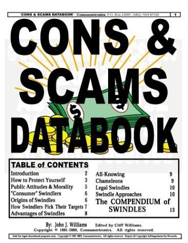 Cons & Scams Databook by John J. Williams