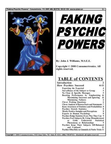 Faking Psychic Powers by John J. Williams