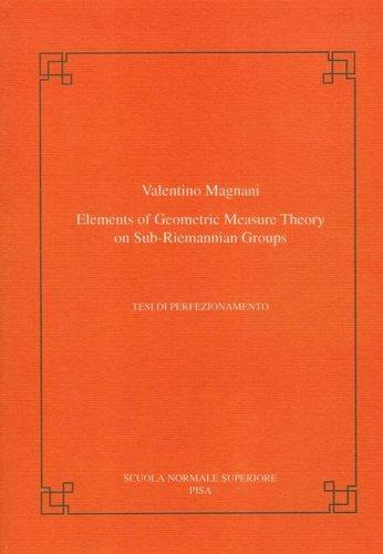 Elements of geometric measure theory on sub-riemannian groups by Valentino Magnani