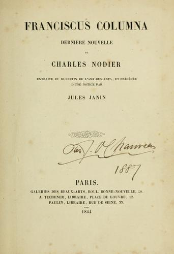 Francisous Columna by Charles Nodier