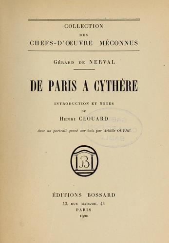 De Paris à Cythère