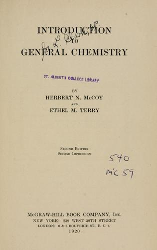 Introduction to general chemistry by McCoy, Herbert Newby