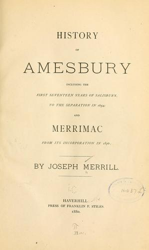 History of Amesbury by