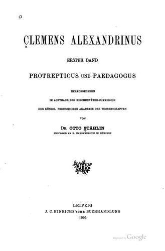 Clemens Alexandrinus.